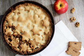 Spekulatius Torte, Apfeltorte mit Spekulatius, gedeckte Apfel-Spekulatius Torte