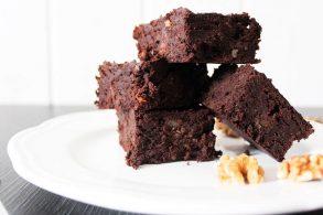 gesunde Walnuss Brownies, gesunde Brownies, Kidneybohnen Brownies, Brownies aus Kidneybohnen