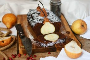 Low Carb Schokokuchen, Birnen-Schoko Kuchen, Schoko-Birnen Kuchen