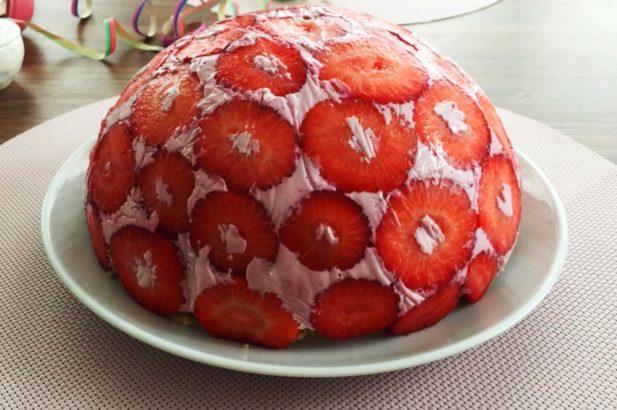 Erdbeer Torte, Erdbeer Creme Torte, Cremetorte mit Erdbeeren