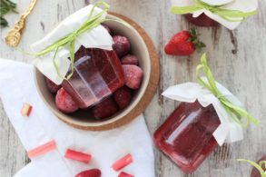 Erdbeer Rhabarber Marmelade, Rhabarber Marmelade mit Erdbeer, Rhabarber Erdbeer Marmelade