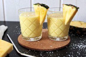 Ananas Lassi mit Kokos, Ananas Lassi vegan