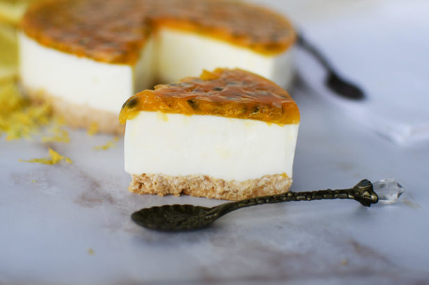 Joghurt Torte, Maracuja Joghurt Torte, Maracuja Creme Torte, Maracuja Torte mit Joghurt