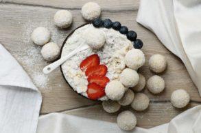 Kokosnuss Bowl, Kokos Protein Bowl, Kokos Porridge