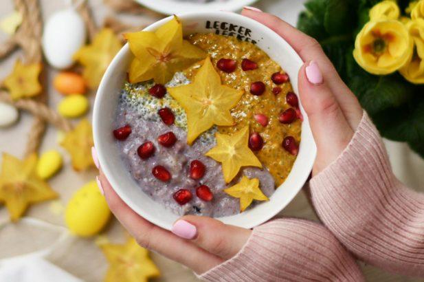 Mango Bowl, Chia Bowl, Frühstücks Bowl, Superfood Bowl
