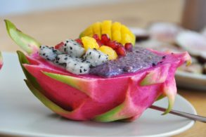 Bowl mit Drachenfrucht, Bowl mit Pitaya, Superfood Bowl