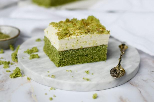 Spinatkuchen, Becherkuchen zuckerfrei, Green Cake