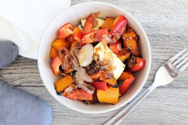 Kürbissaltat, Kuerbissalat, Kürbissalat mit Zucchini, Kürbis-Zucchini Salat