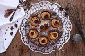 Bratapfel Kuchen gesund, Bratapfelkuchen mit Birkenzucker, Bratapfelkuchen ohne Zuckerzusatz, Bratapfelkuchen mit Xylit