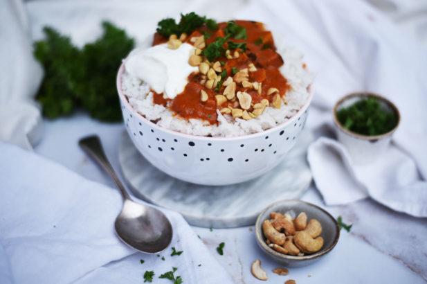 Indisches Tofu Gericht ohne Zuckerzusatz, Indisches Tofu Tikka Masala, Tofu Tikka Masala, Tikka Masala mit Tofu, Tikka Masala vegetarisch