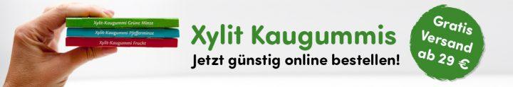 Xylit Kaugummi bestellen Banner