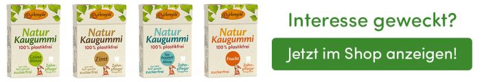 Banner Natur Kaugummi